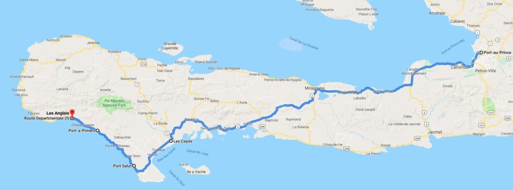 Journey from Port-au-Prince to Les Anglais